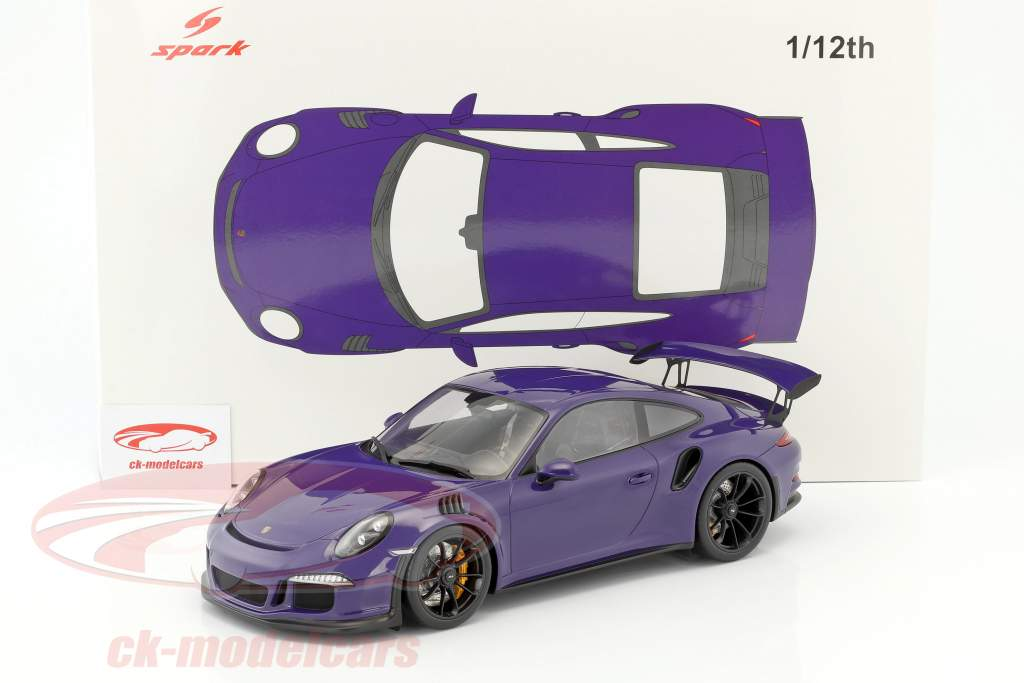Porsche 911 (991) GT3 RS anno di costruzione 2016 ultra viola 1:12 Spark