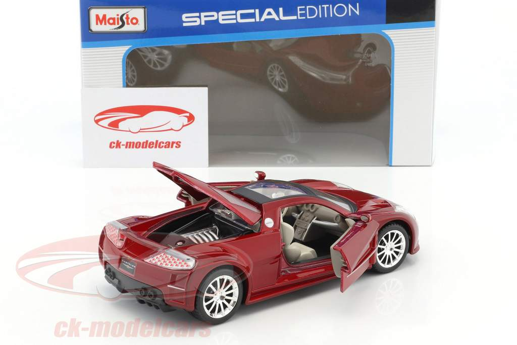 Chrysler Me Four Twelve Concept Car Baujahr 2005 rot 1:24 Maisto