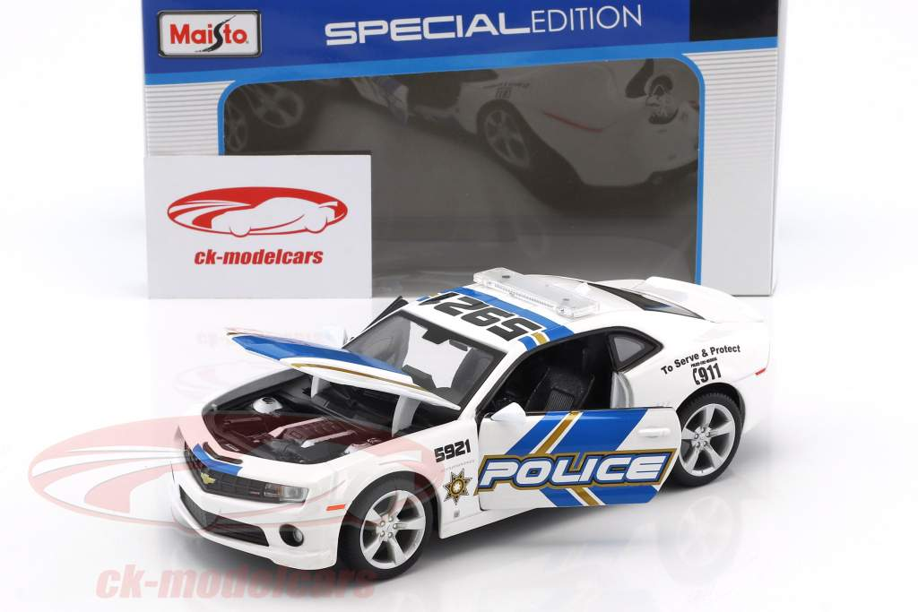 Chevrolet Camaro SS RS police année 2010 1:24 Maisto