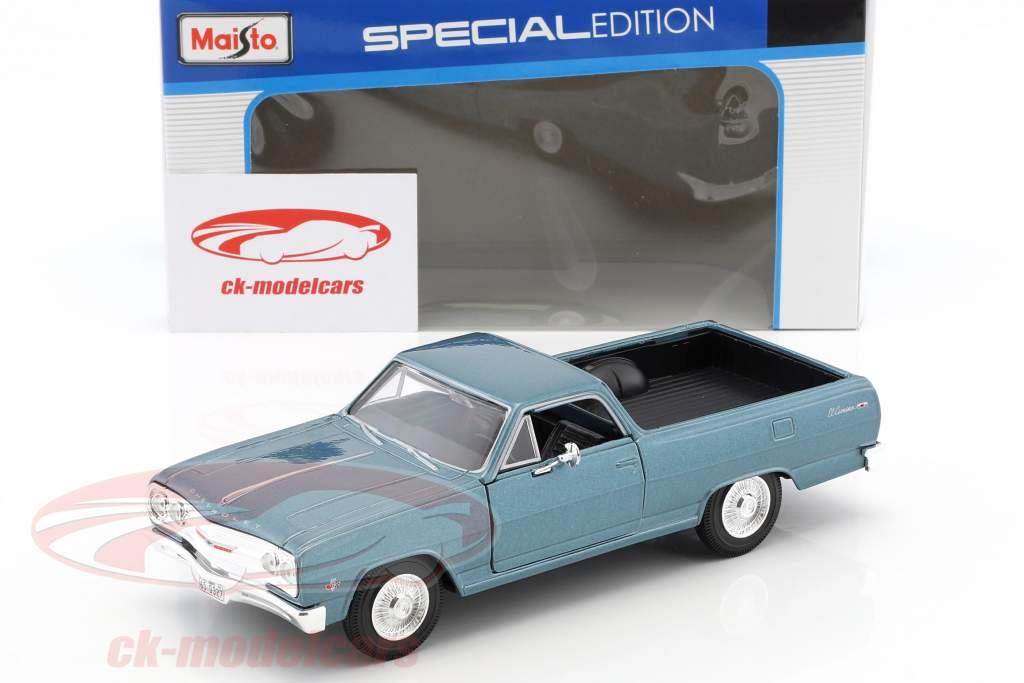 Chevrolet El Camino Baujahr 1965 blau metallic 1:24 Maisto
