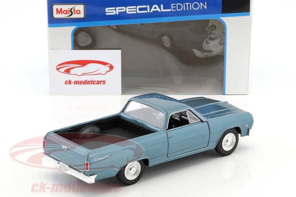 Chevrolet El Camino année 1965 bleu métallique 1:24 Maisto