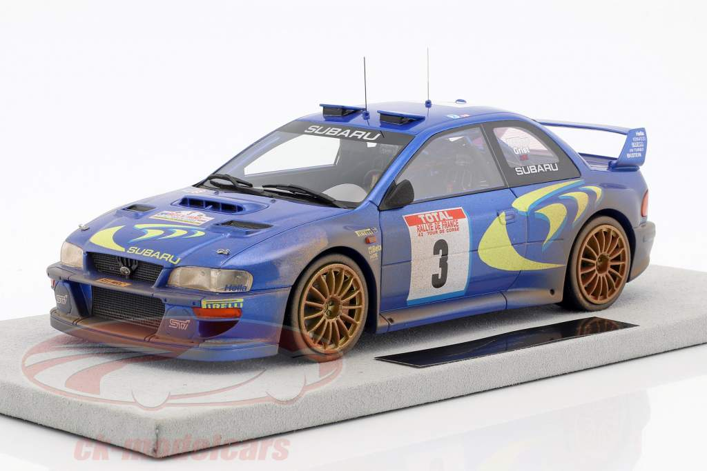 Subaru Impreza S4 WRC Dirty version #3 Winner Tour de Corse 1998 McRae, Grist 1:18 TopMarques