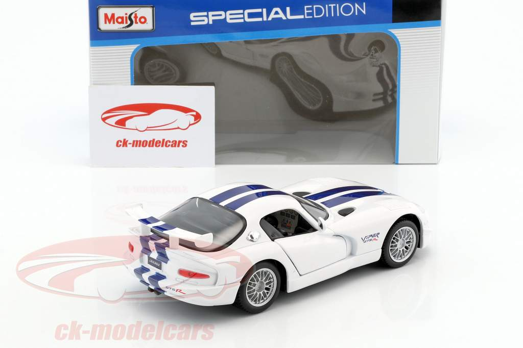 Dodge Viper GT2 white / blue 1:24 Maisto