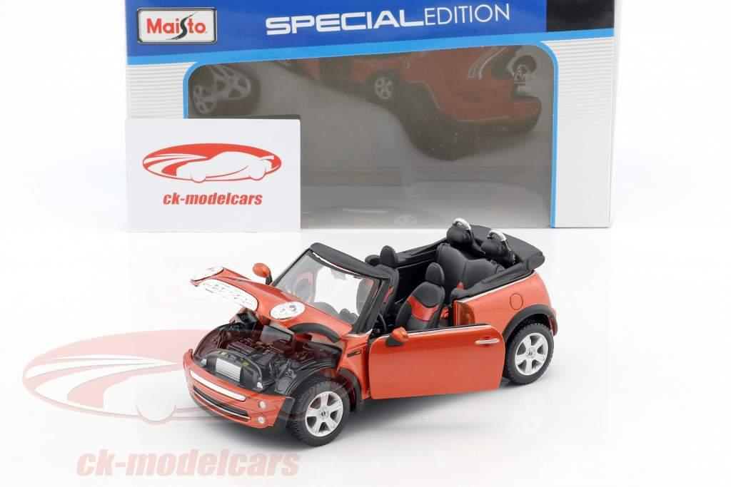 Mini Cooper Cabrio rot 1:24 Maisto