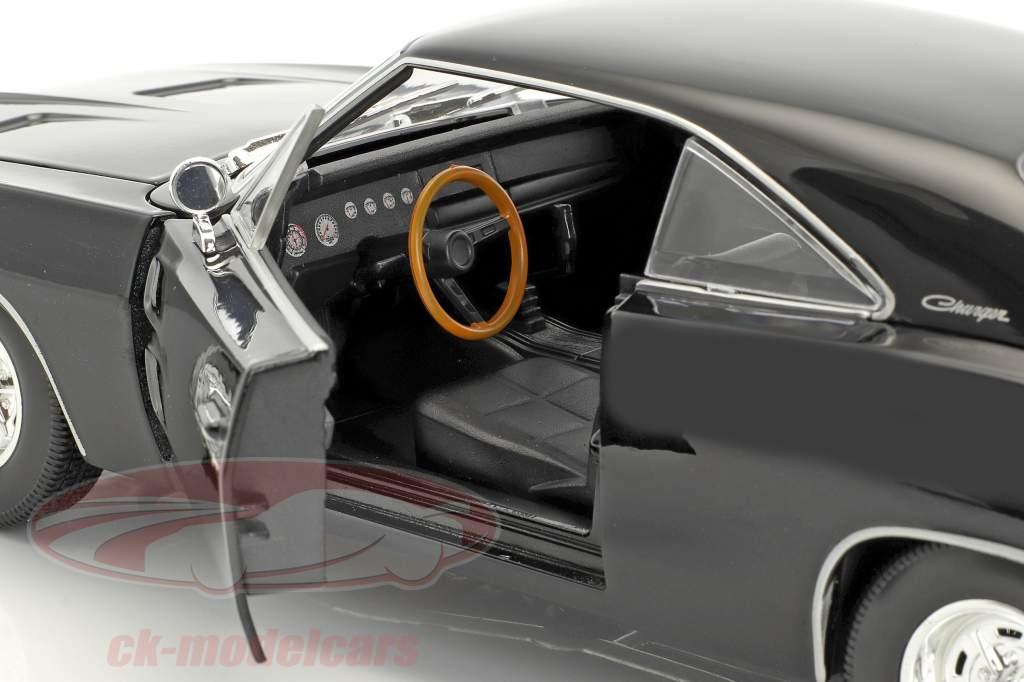 Dodge Charger R/T année de construction 1969 noir 1:18 Maisto