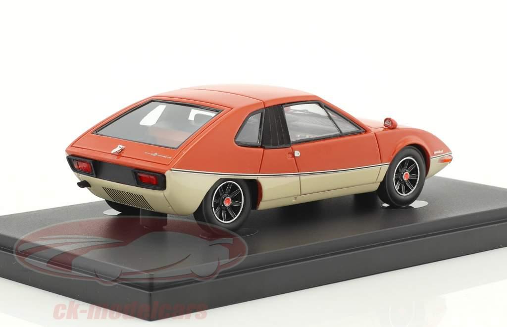 Porsche 914 Heuliez Murene year 1970 orange / white 1:43 AutoCult