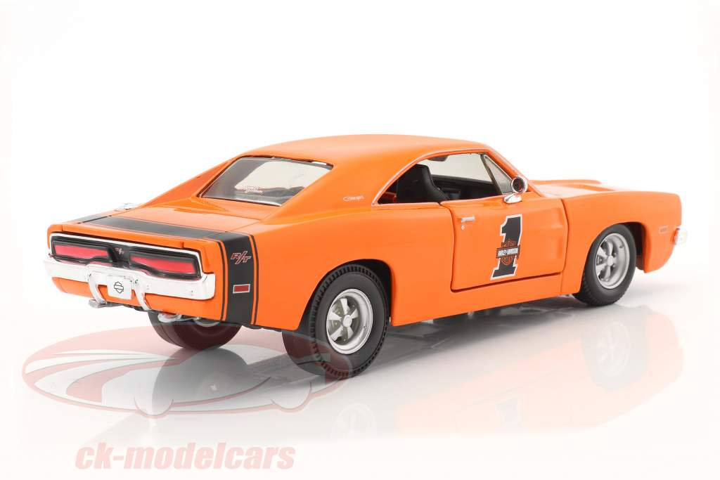 Dodge Charger R/T HD-Design année de construction 1969 orange 1:24 Maisto