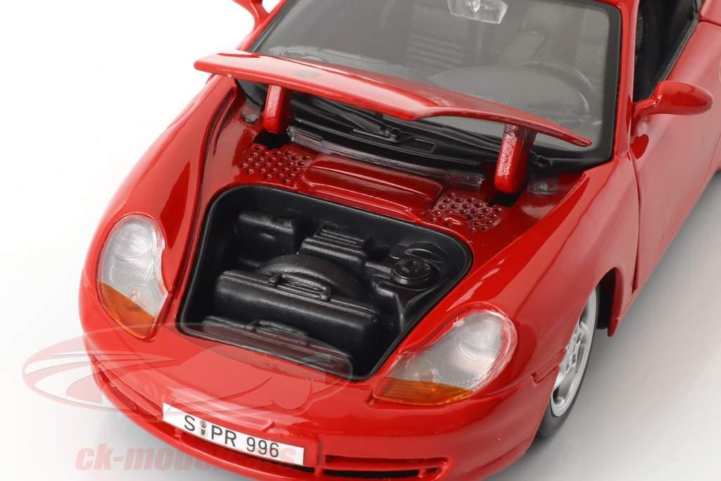 Porsche 911 (996) Carrera year 1997 red 1:24 Maisto