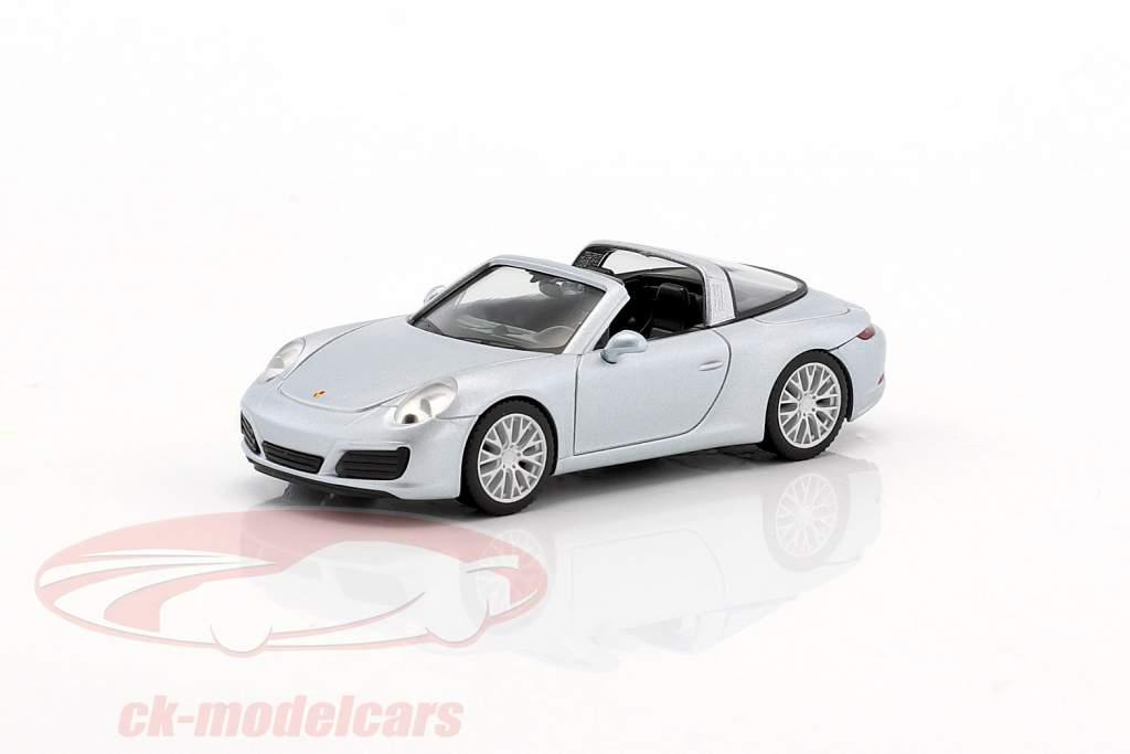 Porsche 911 (991) Targa 4S argento 1:87 Herpa