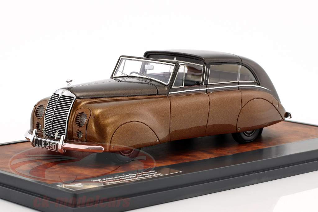 Rolls Royce Silver Wraith Sedanca de Ville by Hooper anno di costruzione 1947 marrone metallico 1:43 Matrix