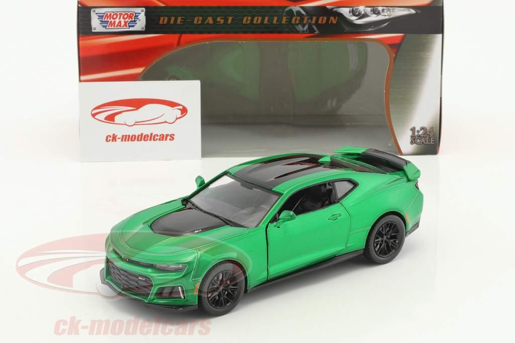 Chevrolet Camaro ZL1 année de construction 2017 vert métallique 1:24 MotorMax