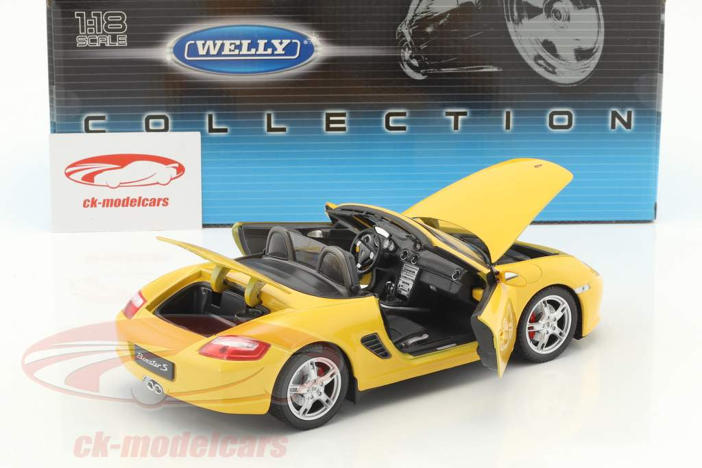 Porsche Boxster S Open Top giallo 1:18 Welly