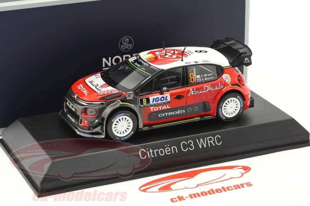 Citroen C3 WRC #8 Tour de Corse 2017 Breen, Martin 1:43 Norev