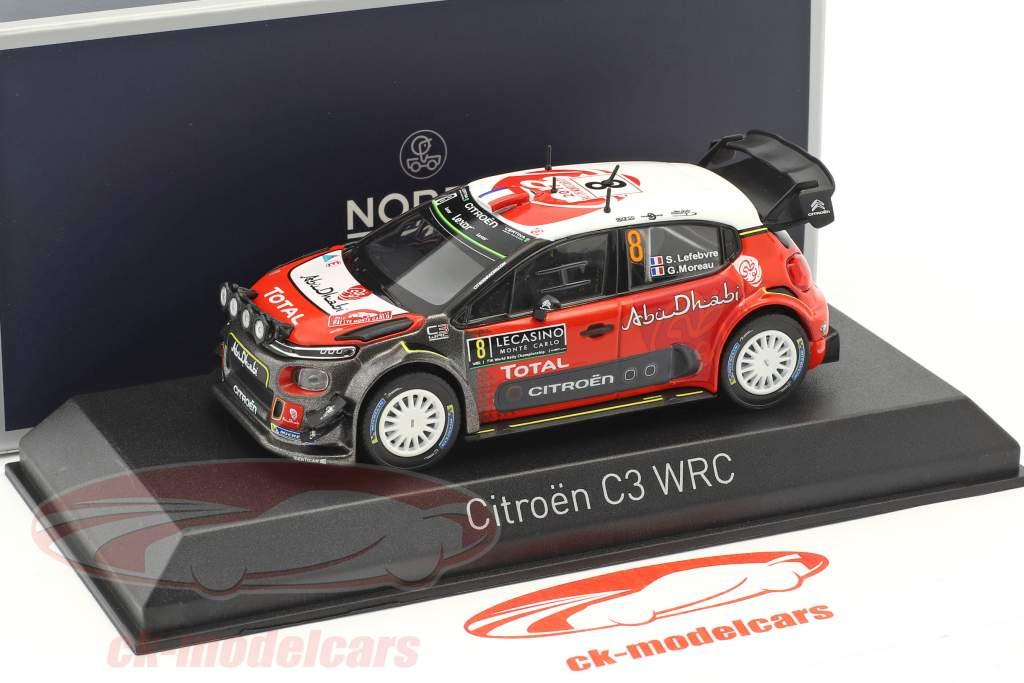Citroen C3 WRC #8 Rallye Monte Carlo 2017 Lefebvre, Moreau 1:43 Norev