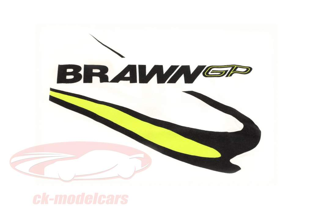Jenson Button #22 Brawn GP formule 1 2009 T-Shirt blanc
