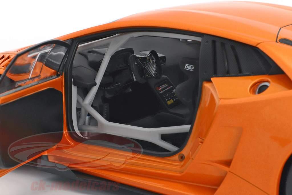 Lamborghini Huracan LP620-2 Super Trofeo année de construction 2016 orange métallique 1:18 AUTOart