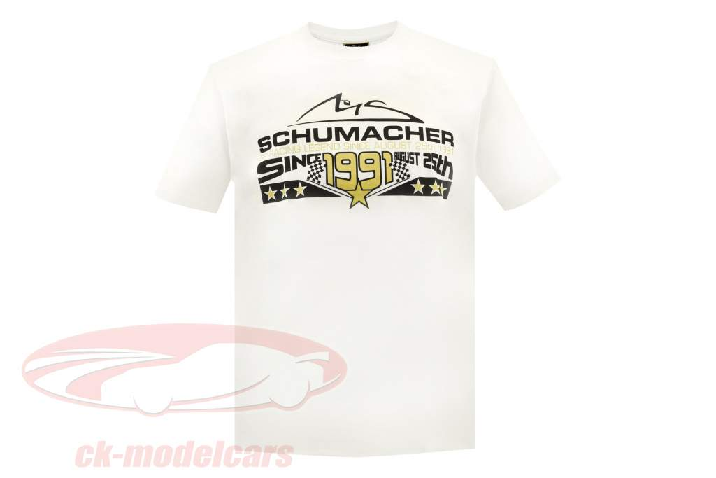 Michael Schumacher T-Shirt 25th August 1991 bianco