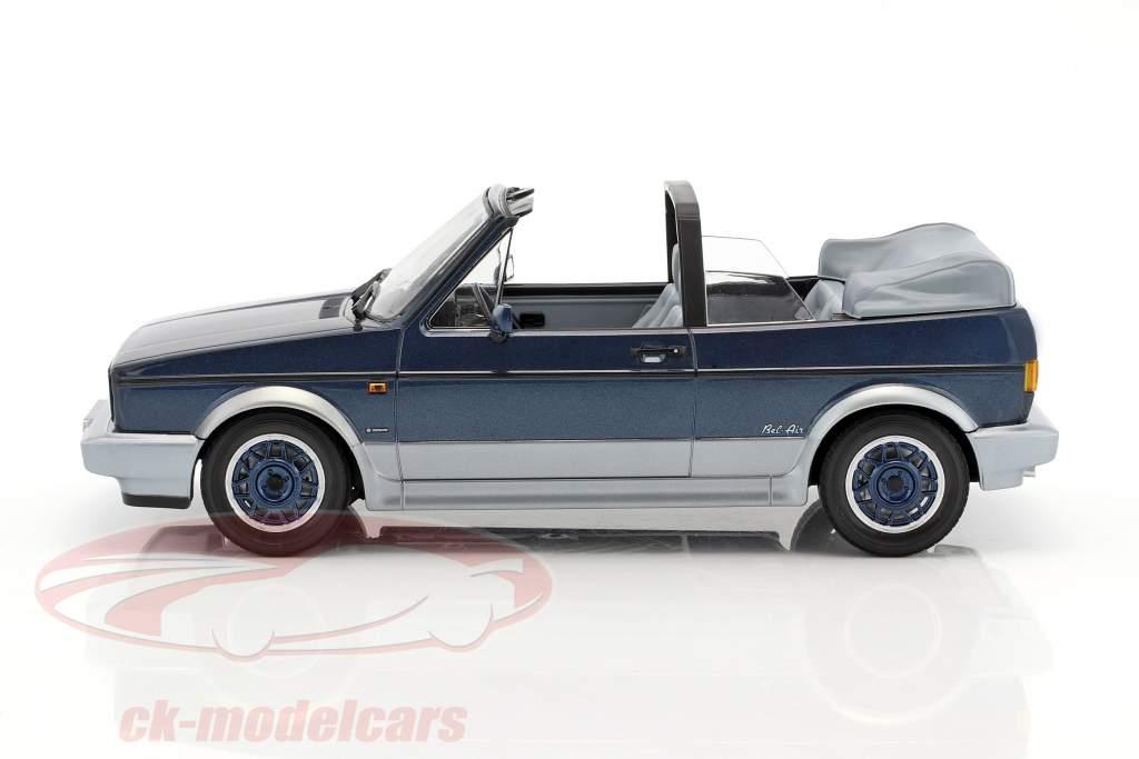 Volkswagen VW Golf Cabriolet Bel Air anno di costruzione 1992 blu metallico 1:18 Norev
