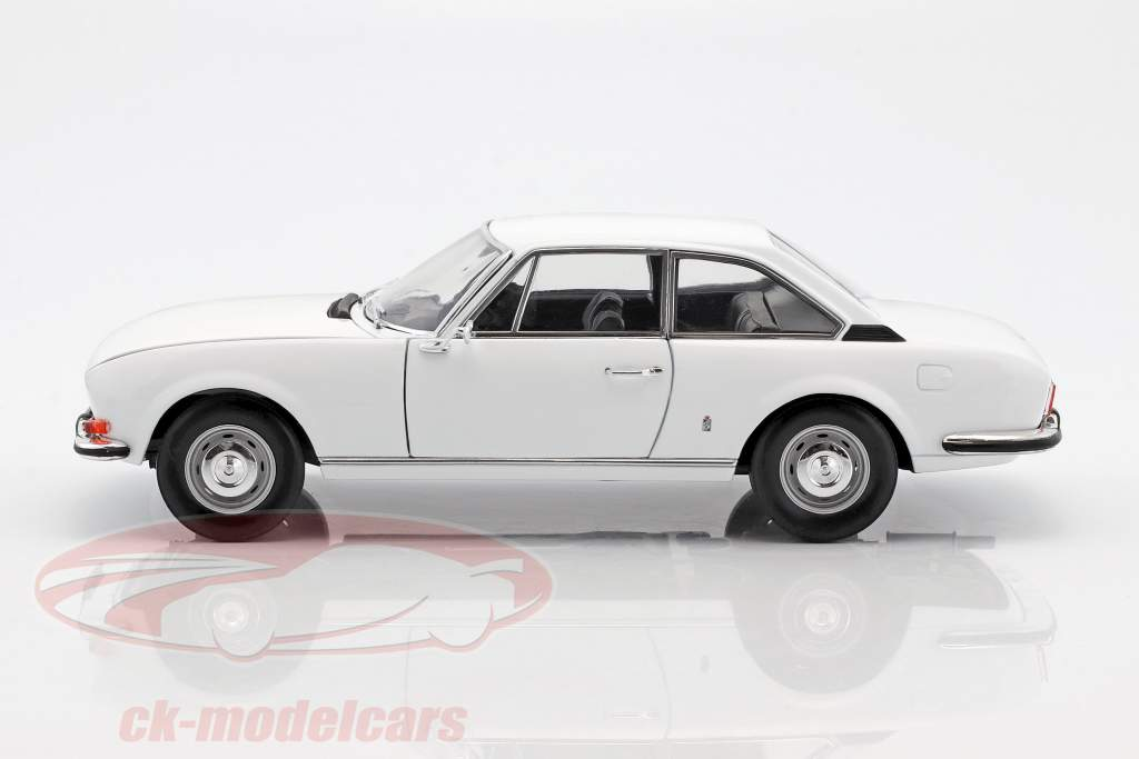 Peugeot 504 Coupe année de construction 1969 blanc 1:18 Norev