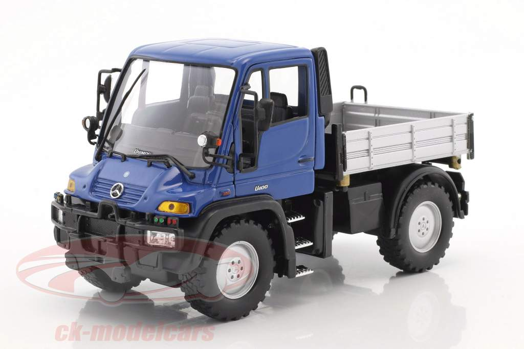 Mercedes-Benz Unimog blue / gray / black 1:32 Welly