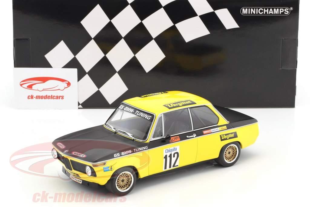 BMW 2002 #112 vincitore Int. ADAC gara Airfield Diepholz DRM 1972 Dieter Basche 1:18 Minichamps