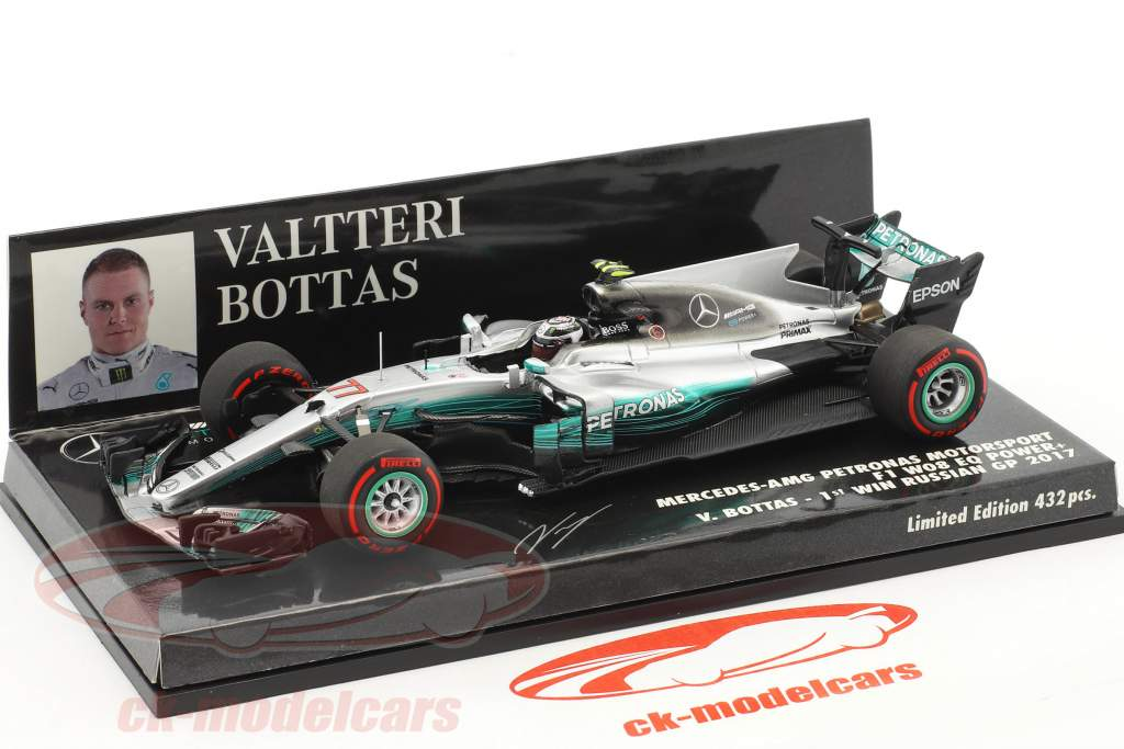 Valtteri Bottas Mercedes F1 W08 EQ Power+ #77 1st Win Russland GP Formel 1 2017 1:43 Minichamps