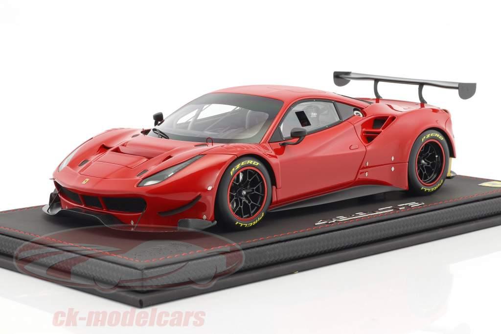 Ferrari 488 GT3 year 2016 red with Showcase 1:18 BBR