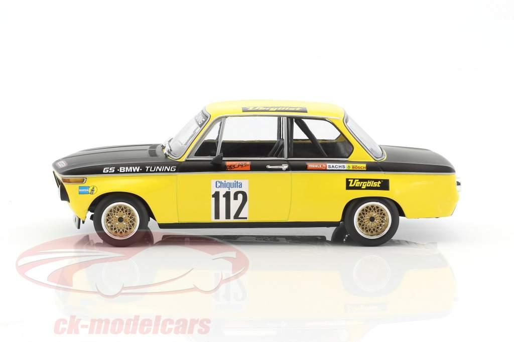 BMW 2002 #112 gagnant Int. ADAC course terrain d'aviation Diepholz DRM 1972 Dieter Basche 1:18 Minichamps