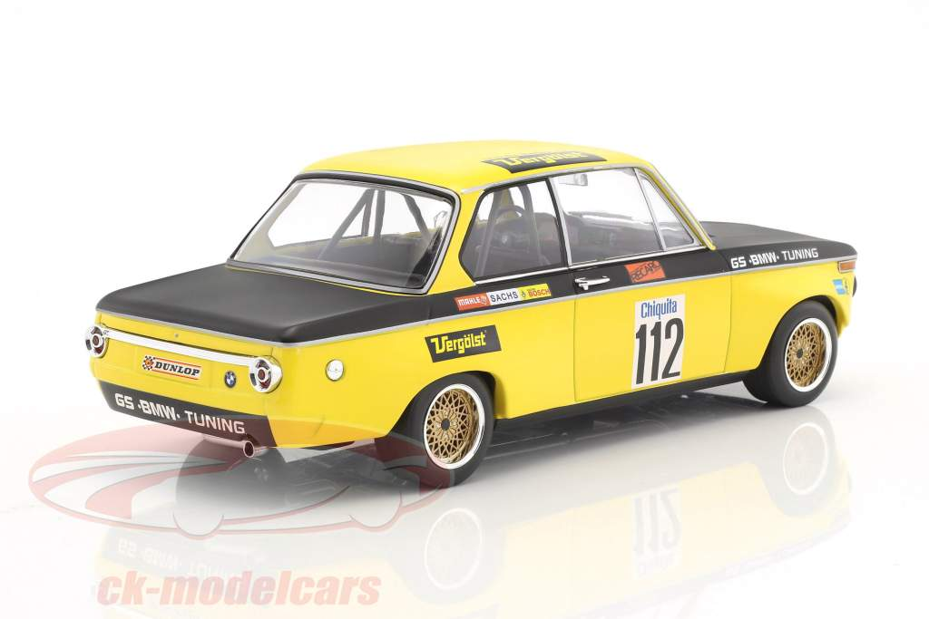 BMW 2002 #112 gagnant Int. ADAC course terrain d'aviation Diepholz DRM 1972 Dieter Basche 1:18 Minichamps