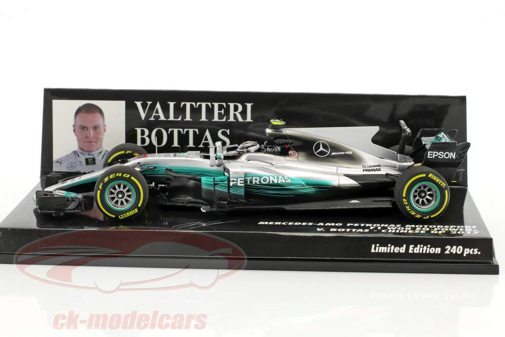 Valtteri Bottas Mercedes F1 W08 EQ Power  #77 Chinese GP Formel 1 2017 1:43 Minichamps