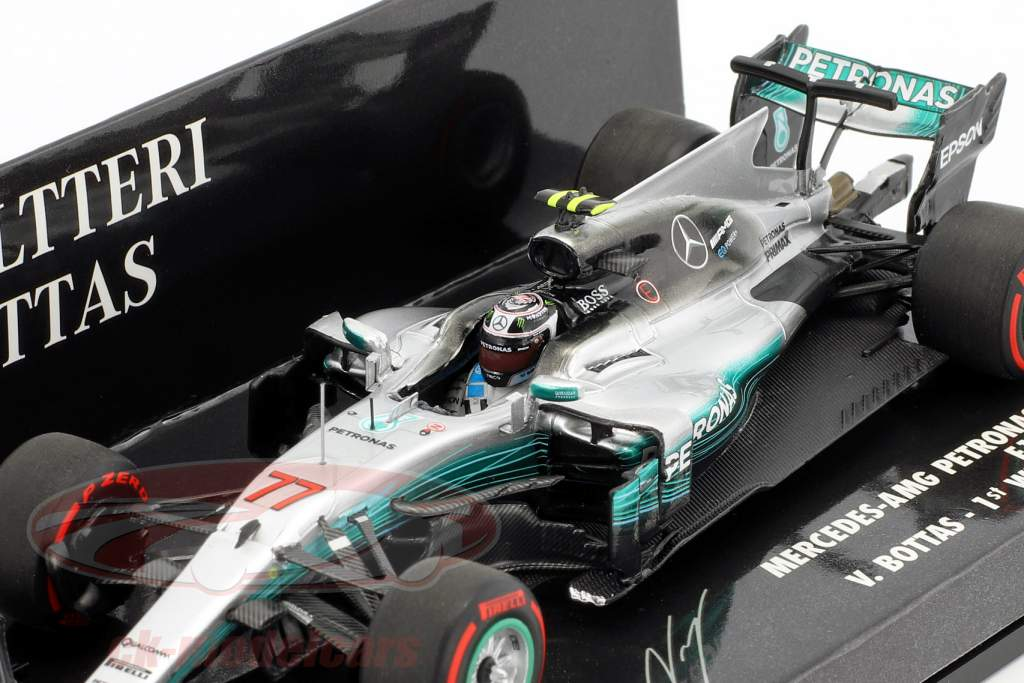 Valtteri Bottas Mercedes F1 W08 EQ Power  #77 1st Win Russian GP Formel 1 2017 1:43 Minichamps