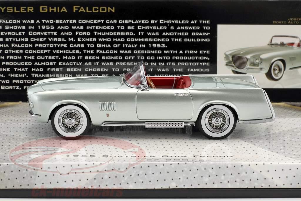 Chrysler Ghia Falcon year 1955 silver green metallic 1:43 Minichamps