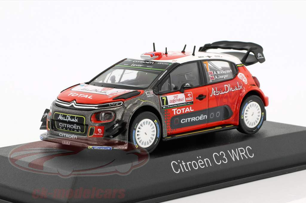 Citroen C3 WRC #7 Rally Pologne 2017 Mikkelsen, Jaeger 1:43 Norev