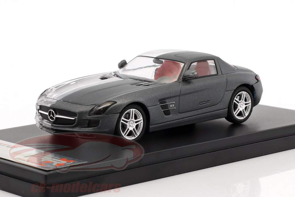 Mercedes-Benz SLS AMG Construction year 2011 frosted gray / transparent 1:43 Premium X