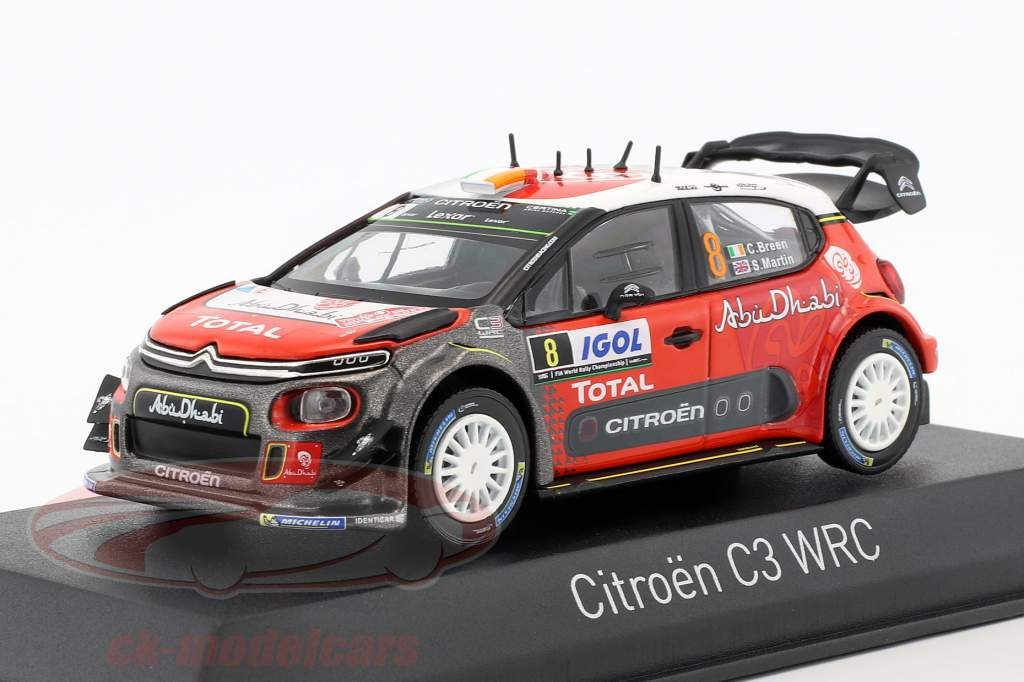 ck modelcars 155364 citroen c3 wrc 8 tour de corse 2017 breen martin 1 43 norev ean. Black Bedroom Furniture Sets. Home Design Ideas