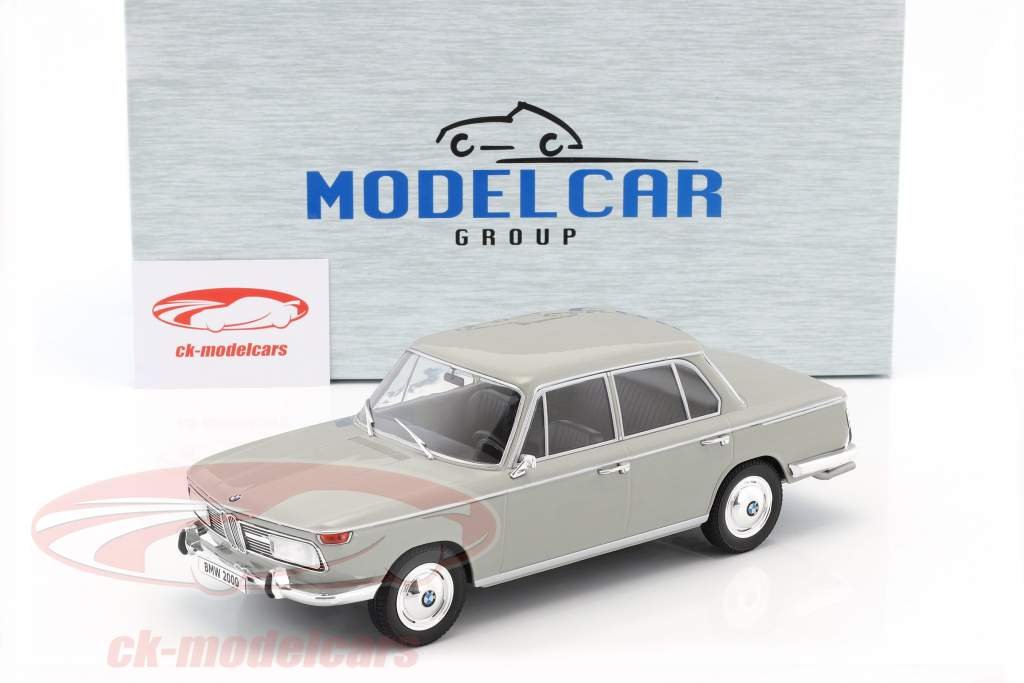 BMW 2000 TI year 1966 light gray 1:18 Model Car Group