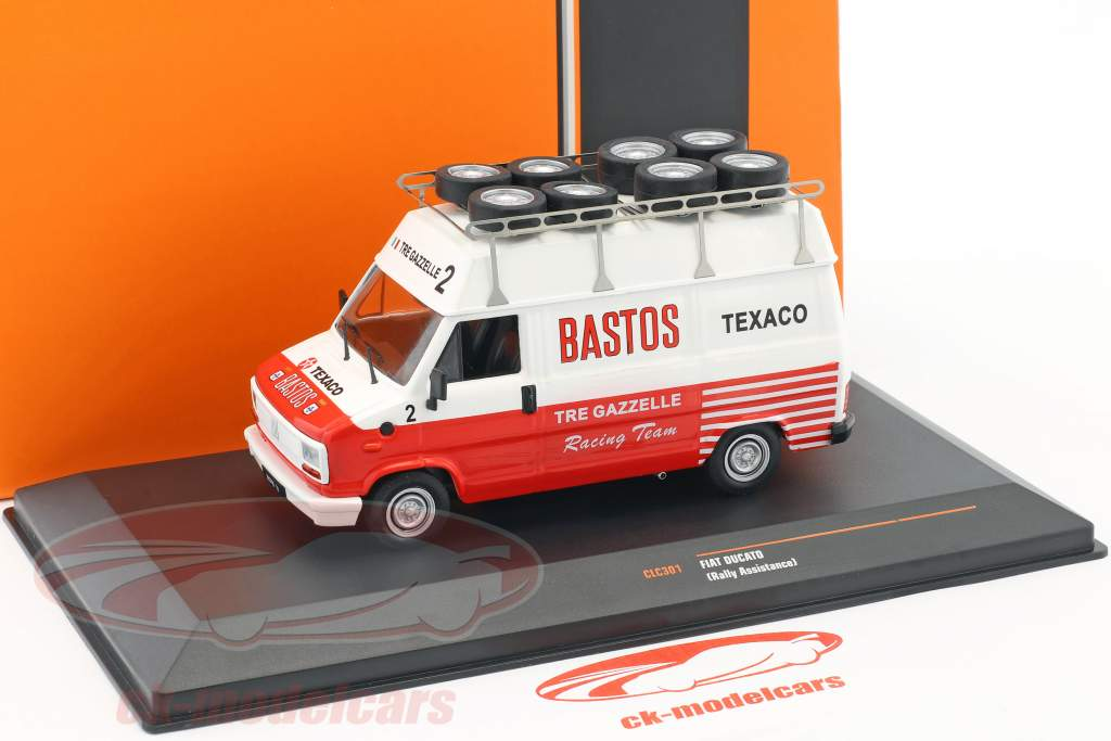 Fiat Ducato Rallye Assistance Bastos blanc / rouge 1:43 Ixo