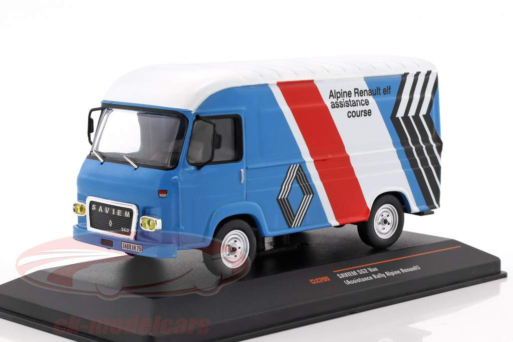 Saviem SG 2 van Rallye Assistance Alpine Renault blue / White / red / black 1:43 Ixo