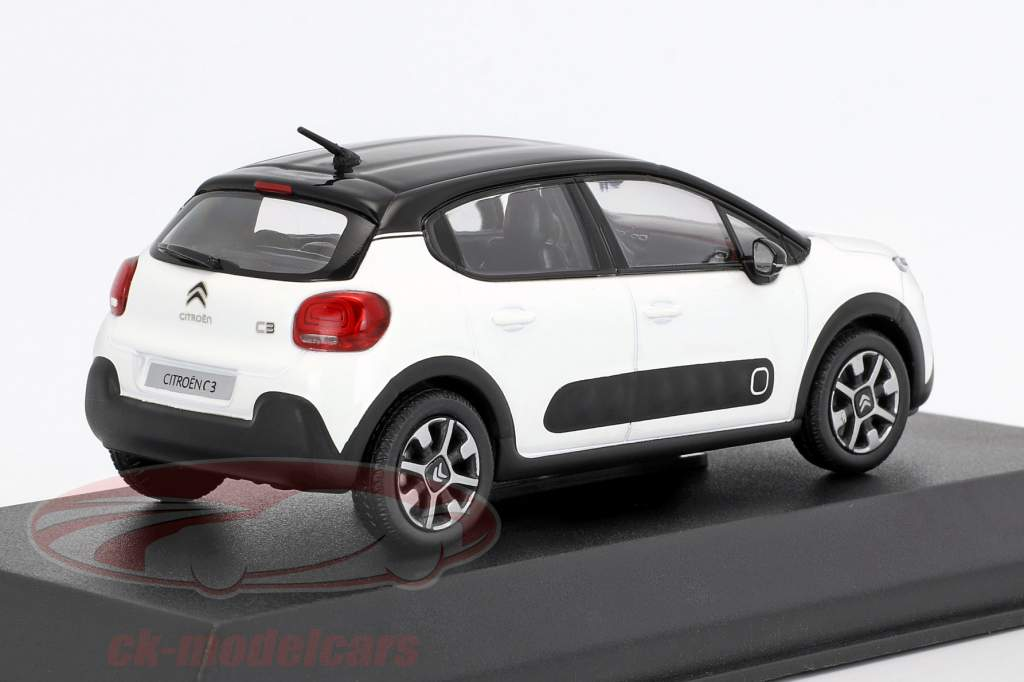 Citroen C3 year 2016 white / black 1:43 Norev