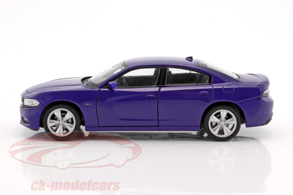 Dodge Charger R/T Baujahr 2016 lila-blau 1:24 Welly