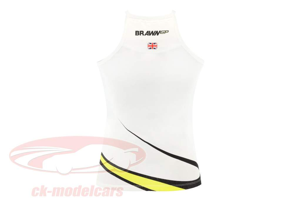 Brawn GP formula 1 2009 V neck Vest Ladies white