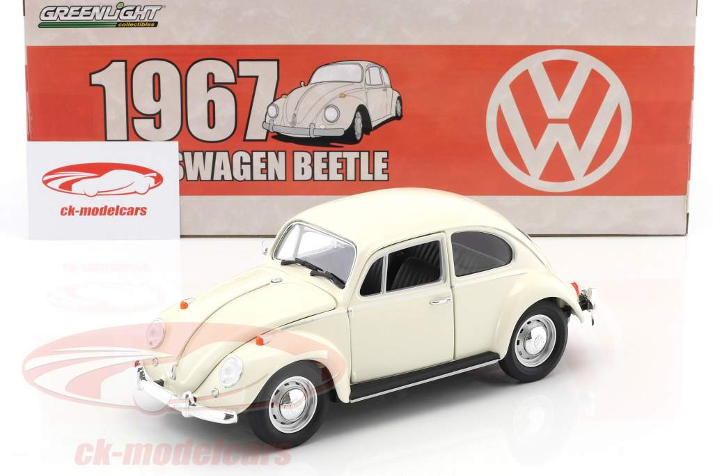 Volkswagen VW Beetle RHD year 1967 white 1:18 Greenlight