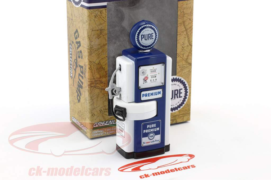 Wayne 100-A Pure Oil gas pump 1948 blue / white 1:18 Greenlight