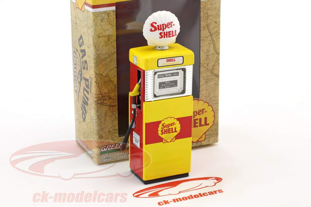 Wayne 505 Shell Oil gas pompa 1951 giallo / rosso 1:18 Greenlight