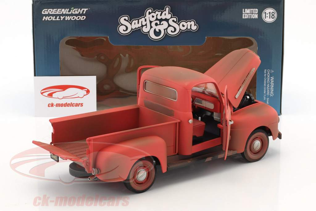 Ford F-1 Pick-Up year 1952 TV Series Sanford & Son (1972-77) red 1:18 Greenlight