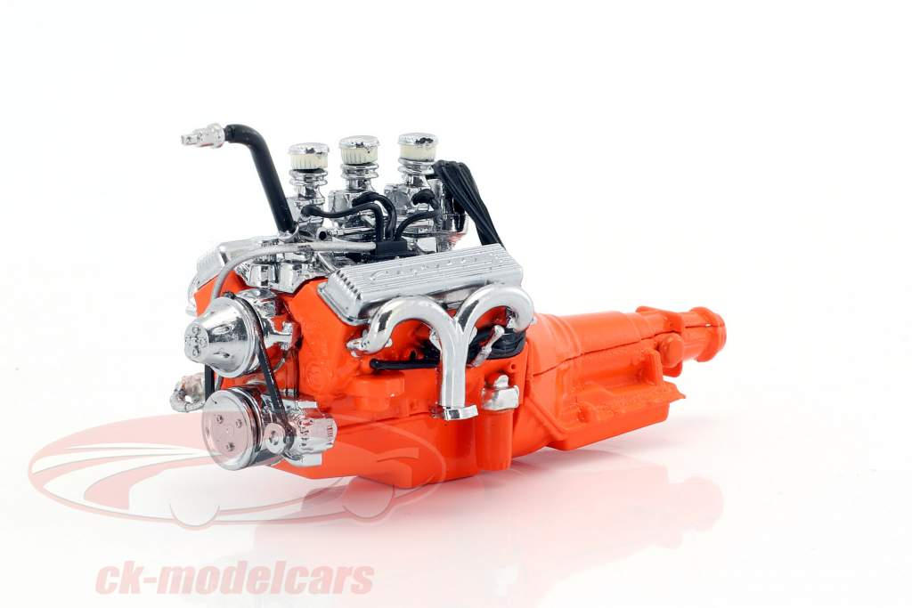 Custom Ford 327 year 1932 small block engine with transmission 1:18 Greenlight