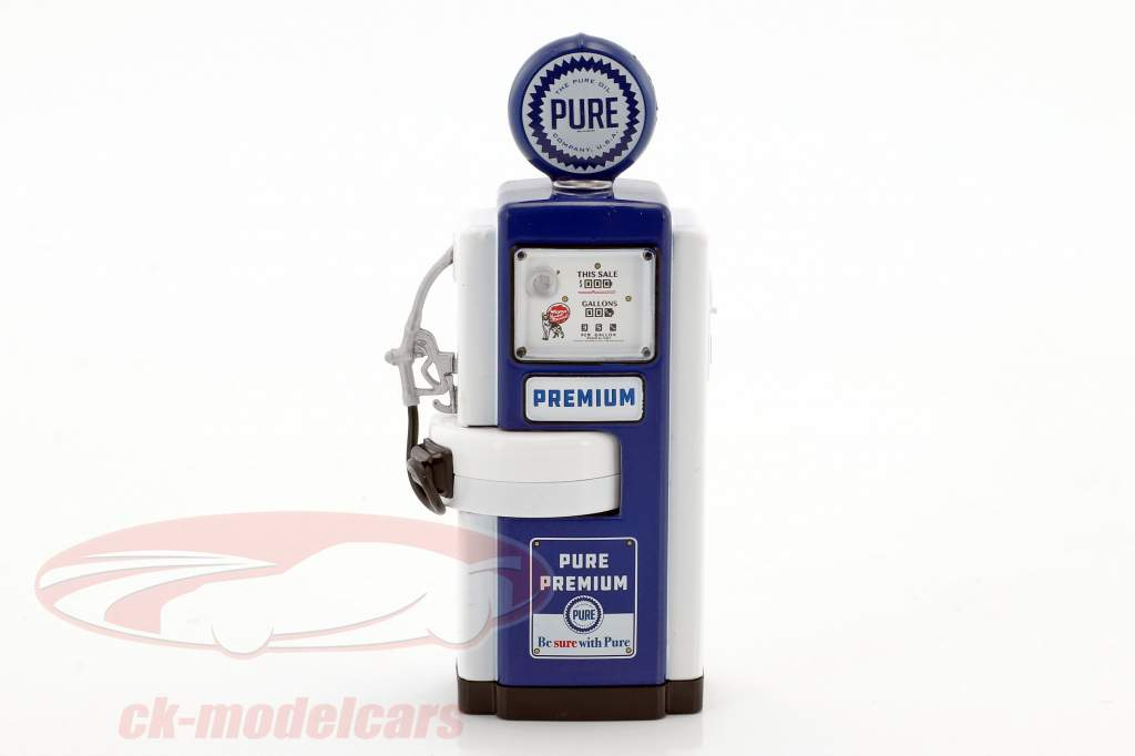 Wayne 100-A Pure Oil gas pompa 1948 blu / bianco 1:18 Greenlight