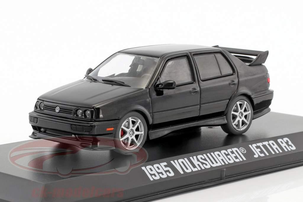 Volkswagen VW Jetta A3 year 1995 black 1:43 Greenlight