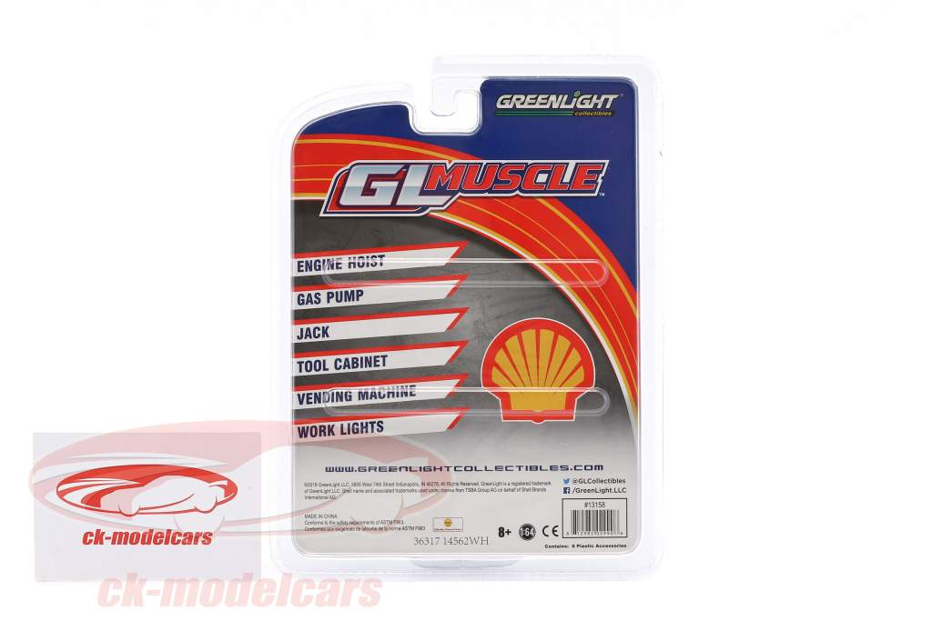 GL Muscle Shop Tools Shell Oil 1:64 Greenlight
