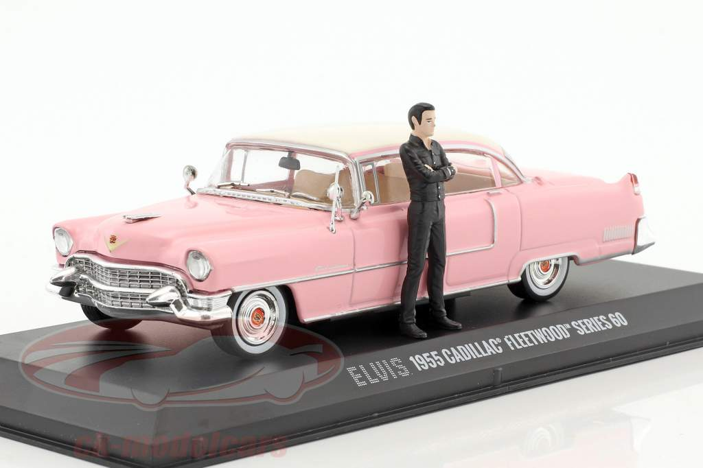Cadillac Fleetwood Series 60 year 1955 pink with figure Elvis Presley 1:43 Greenlight